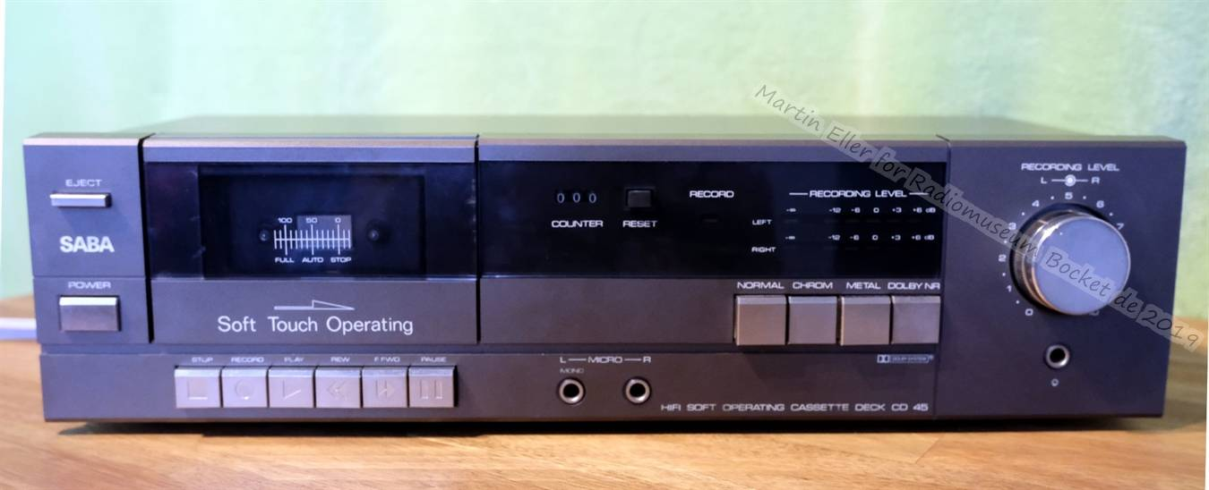 Saba Soft Operating Cassette Deck CD 45 Martin-Eller 2019 (1).JPG