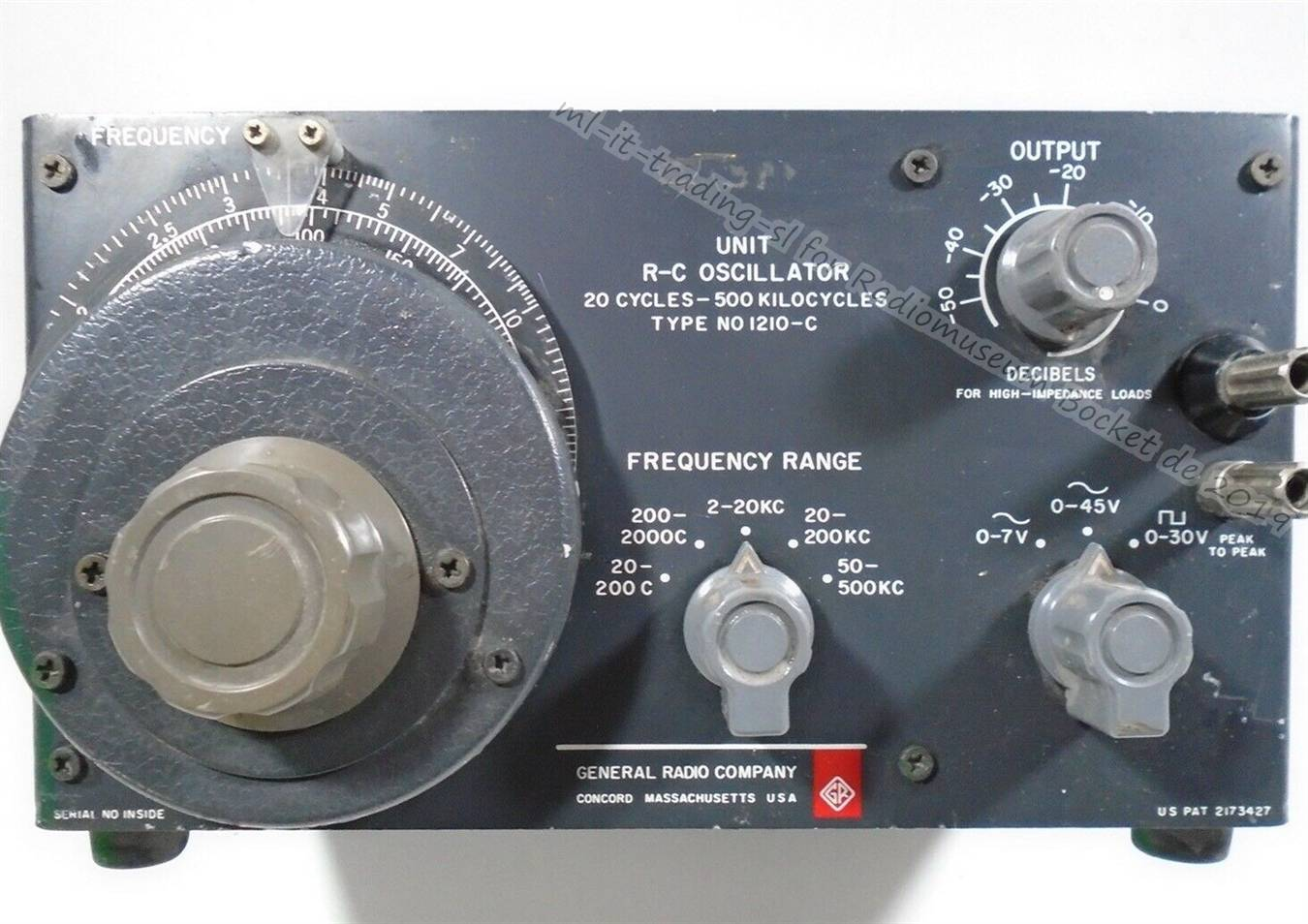 General Radio Unit R-C Oscillator Type NO 1210-C ml-it-trading-sl 2019 1.jpg