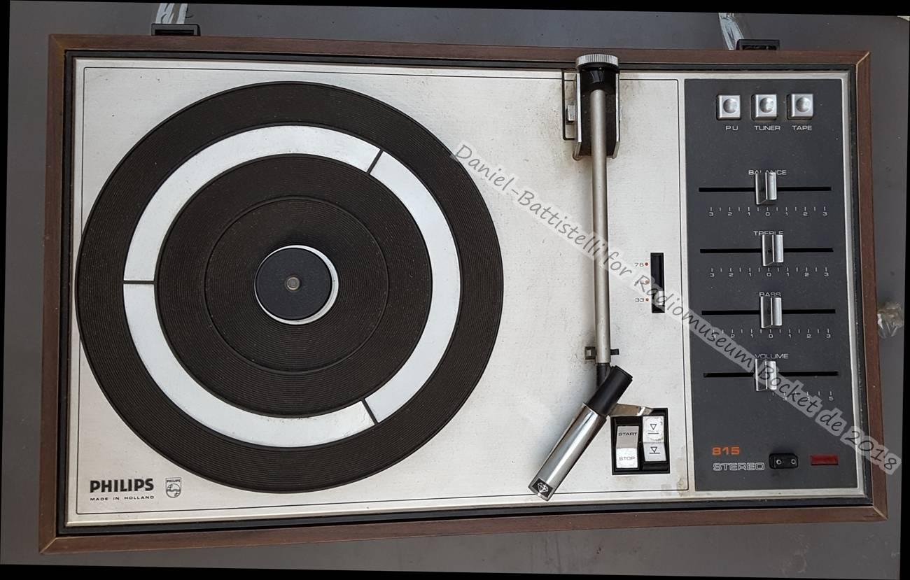 Tv, Video & Audio Service Manual Philips Plattenspieler 22gf815