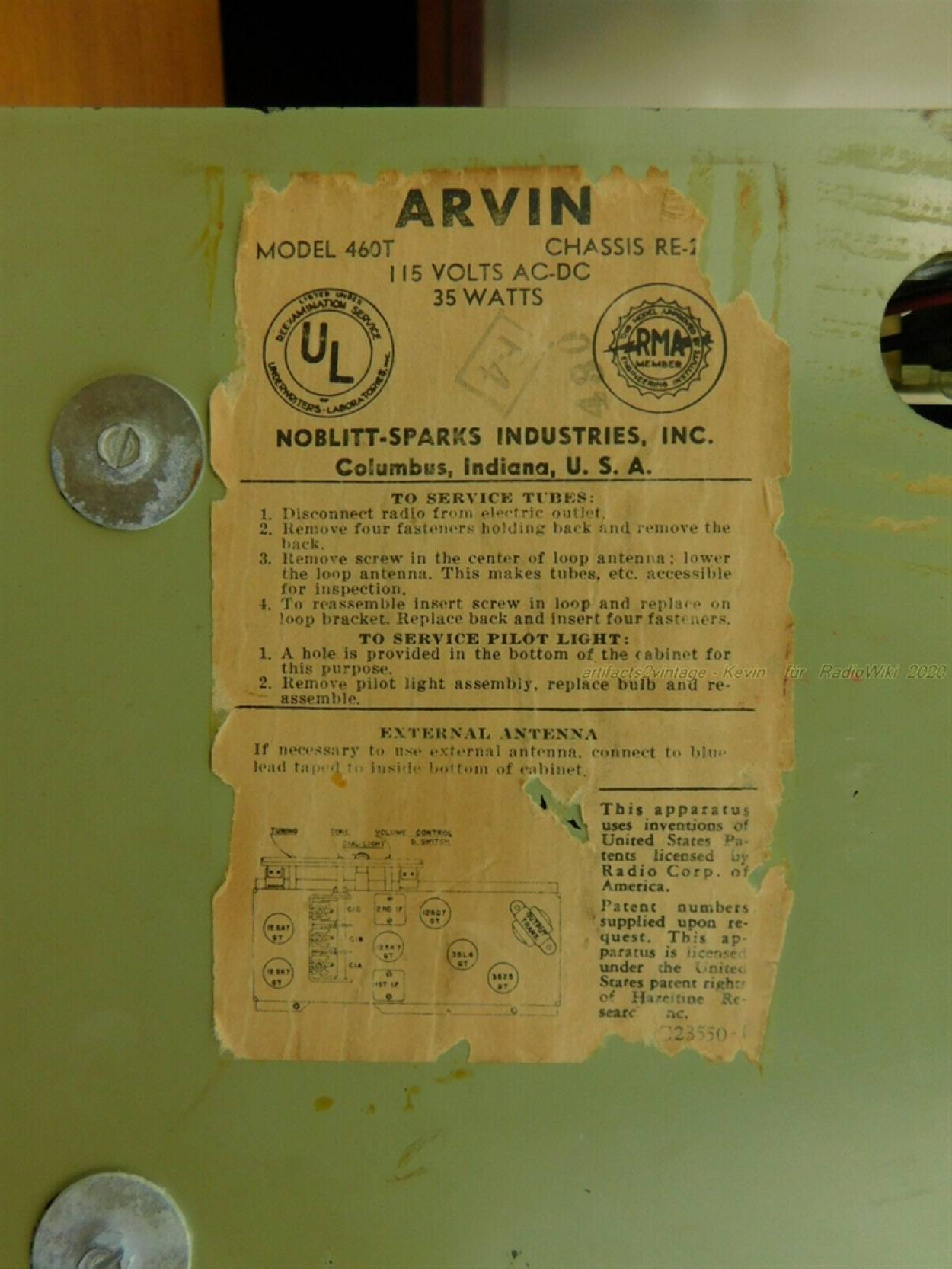 Arvin 460T Chassis RE-284 artifacts2vintage 2020 9.jpg